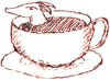 pseudomonas: teeny dragon in a teacup (teadragon, dragon)