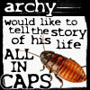velvetwhip: (Archy the Cockroach)