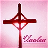 vaalea: Celtic cross in pink, signed as 'Vaalea'. (Default)