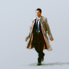 lilyleia78: Cas walking with plain white background (Supernatural: Pretty angel)