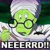 rebecky_mo: Piccolo in nerd glasses from Japanese commercial (DBZ: NERD!)