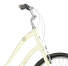 sporky_rat: The handlebars and headset of a pale yellow Trek Pure Lowstep. (bicycles)