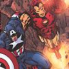 garrideb: Cap and Iron Man hug and fly (steve/tony flying)