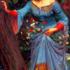 ext_64921: Deatail from JWWaterhouse's Ophelia [blue dress] (1905). (Narnia)