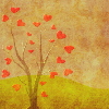 nightdog_barks: Tree with tiny red Valentine hearts as its leaves (Heart tree)