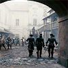 muccamukk: The three Musketeers walking together down a Paris street. (Musketeers: Three Inseparables)