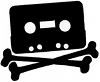 shadowspar: Audio cassette tape with crossbones, made to look like a jolly roger (tape pirate!)