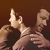 kate: Sam and Cas hug, nawwwww, they're so bad at it! (SPN: Sam/Cas awkward hug)