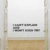 """revolutions: Text icon reading """"I can't explain and I won't even try."""" (can't explain)"""
