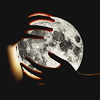 recessional: human hands holding the moon (personal; claim the moon)