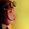 winterfish: warehouse 13: claudia with a pair of steampunk goggles on top of her head (wh13: claudia with goggles)