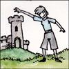 jjhunter: a person who waves their hand over a castle tower changes size depending on your perspective (perspective matters)