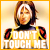 "nostariel: Rogue from the X-Men, captioned ""Don't touch me."" (Default)"