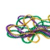 pinesandmaples: Gold, purple, and green Mardi Gras beads on a white background. (lady love: hearts on lines)