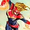 shanaqui: Carol Danvers/Captain Marvel in a fight. ((Carol) Princess Sparklefists)