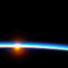 susanreads: Earth's atmosphere and sunrise seen from orbit (space)