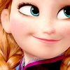 darwin: Anna, of the film Frozen, smiling proudly (Pride)