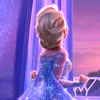 darwin: Queen Elsa, of the film Frozen, looking out of the window from her ice palace (Rightful queen)