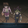 alexseanchai: Anzu and Yami Yuugi going into the museum (Yu-Gi-Oh! Anzu and Yami Yuugi 2)