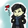 ladyvyola: chibi!sherlock hearts his awesome coat (sherlock loves his coat)