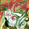 stealth_noodle: Amaterasu in wolf form, being colorful. (okami)