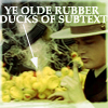 phoenix64: Fraser and rubber ducks, text: ye olde rubber ducks of subtext (ds rubber ducks of subtext)