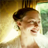 lark_in_flight: Cosette in sunlight, her hair up, beaming happily (a heart full of love)