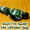 redbess: (god i'm having the weirdest day!)