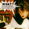 oxfordtweed: Bernard Black looking angrily at some papers, with a speech bubble with the text 'What? What does that mean?' (What does that mean? - Bernard)