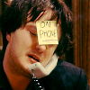 oxfordtweed: Bernard Black on the phone, with a Post-it Note on his forehead reading 'On Phone.' (Bernard - On Phone)