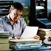 oxfordtweed: Sam Tyler going over paperwork at his desk (Paperwork - Sam)