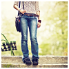 semielliptical: woman in casual pose, wearing jeans (Default)