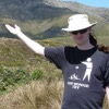 crazyscot: Me in front of Tongariro (nz)
