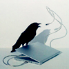 starlady: Raven on a MacBook (nevermore)