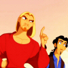 nano_moose: Road to El Dorado. Miguel makes an exaggerated authorative face while Tulio looks confused in the background. ([ED] and you don't want that!, this is not my happy face)