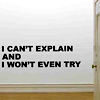 "midnightlights: Text: ""I can't explain and I won't even try"". (can't explain & won't try)"