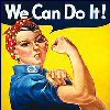 me_ya_ri: Rosie the Riveter saying we can do it (Rosie the Rivoter Icon)