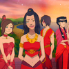 esmenet: Azula and Mai and Ty Lee and Zuko, looking like they're at a festival (the Dangerous Ladies are all here)