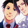 inevitableentresol: Phoenix Wright and Miles Edgeworth, characters from the Ace Attorney game (Phoenix and Edgeworth)