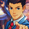 inevitableentresol: art of Phoenix Wright pointing at you (Phoenix pointing)