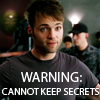 elfin: image: lincoln, trying to look innocent; text: warning cannot keep secrets (fringe.alt-lincoln secrets)