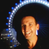 wethepainted: The 9th doctor smiling in front of the lit London Eye at night (Ha! my doctor, My Doctor)