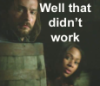 "dragonfly: Ichabod and Abbie peering around casks and the caption ""Well, that didn't work"" (SH didn't work)"