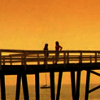 skieswideopen: Sydney Bristow and Nadia Santos standing on a bridge (Riverworld: Tomoe Gozen)
