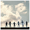 pipisafoat: a silhouetted line of people holding hands (Default)
