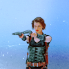 jenwryn: Alice, from the RE movies, with two guns. (re/m • alice; bamfery)