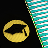 poeticterms: A microchip with an icon of a graduation cap on it. (^ minerva)