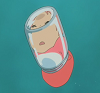 lloll4: ponyo stuck in a bottle (ponyo in bottle)