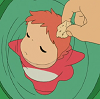 lloll4: ponyo refuses piece of bread (ponyo don't want bread)