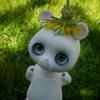 just_lori: Bear? Panda? This cute anthro doll has a dandilion on his head. (Ping ping)